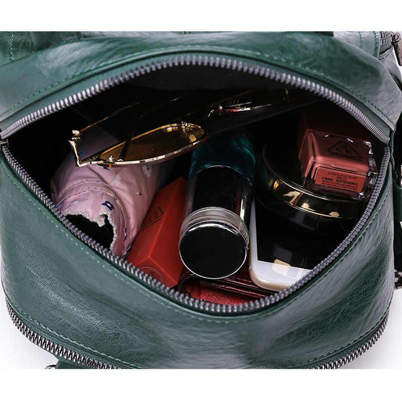 2019 женские кожаные рюкзаки высокого качества Маленький Многофункциональный рюкзак для путешествий для девочек сумка на плечо женский рюкзак женский пакет