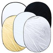 """Nueva Caliente 5 en 1 reflector plegable oval de la foto de estudio 90×120 cm (35 """"x 47 ')"""