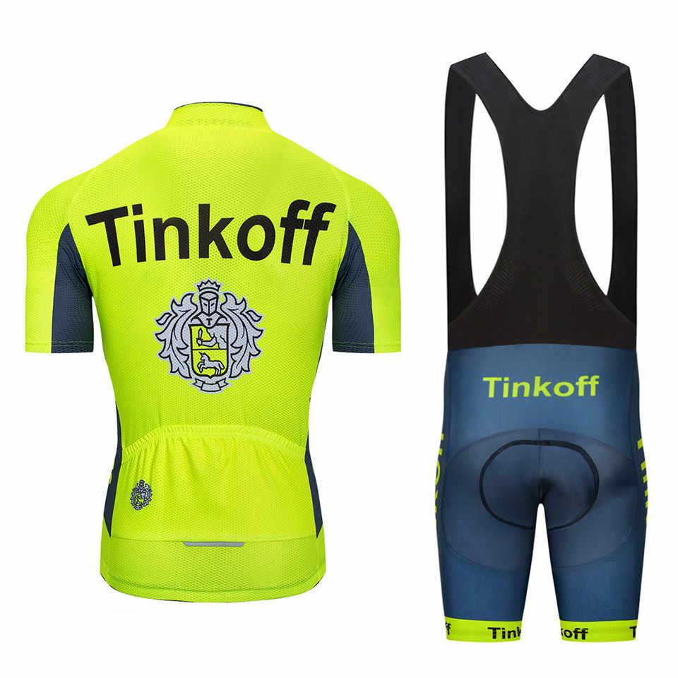 ... UCI 2018 Tinkoff saxo bank Short Sleeve Cycling Jersey kit Ropa Ciclismo  MTB Cycling Clothing ... eca8a8664