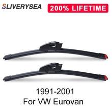 SLIVERYSEA Replace Wiper Blade for Eurovan 1991-2001 Silicone Rubber Windshield Windscreen Auto Car Accessories
