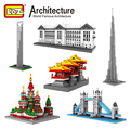 LOZ World Famous Architecture Series Building Blocks The White House London Bridge Eiffel Tower Model Toys Figures Brick Kits