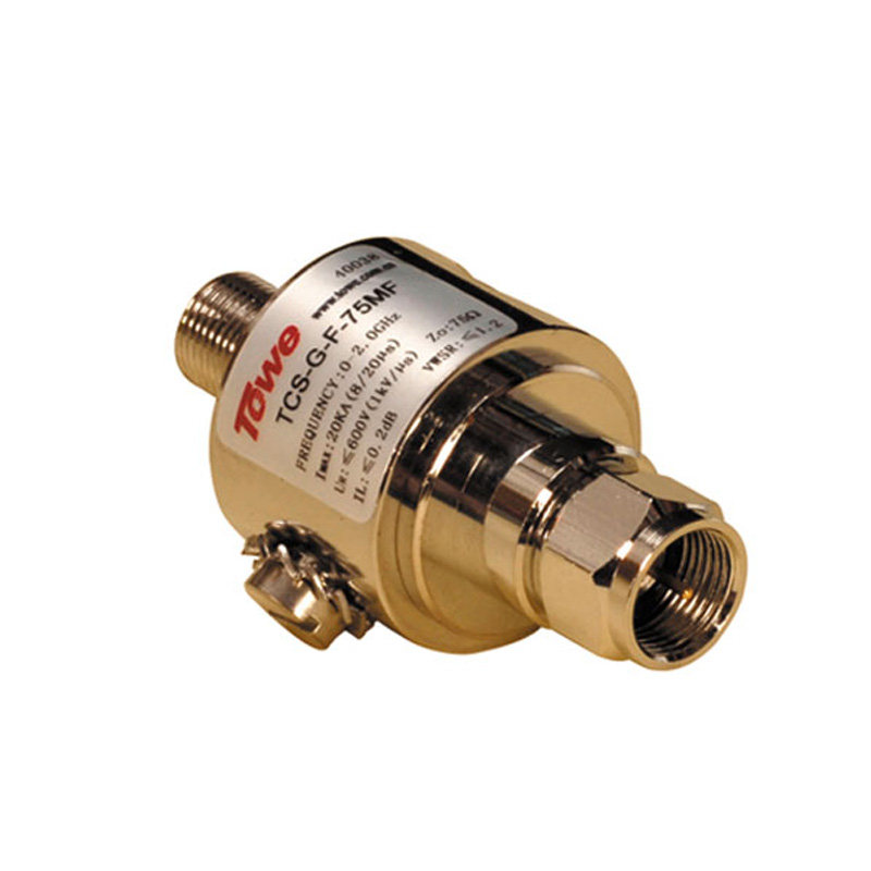 TOWE TCS-G-F-75MF 0-2.5G, 75 Ohm, F, Both Ends Of The MF, Rated Voltage 90 & 230V, Imax: 20KA Surge Protector
