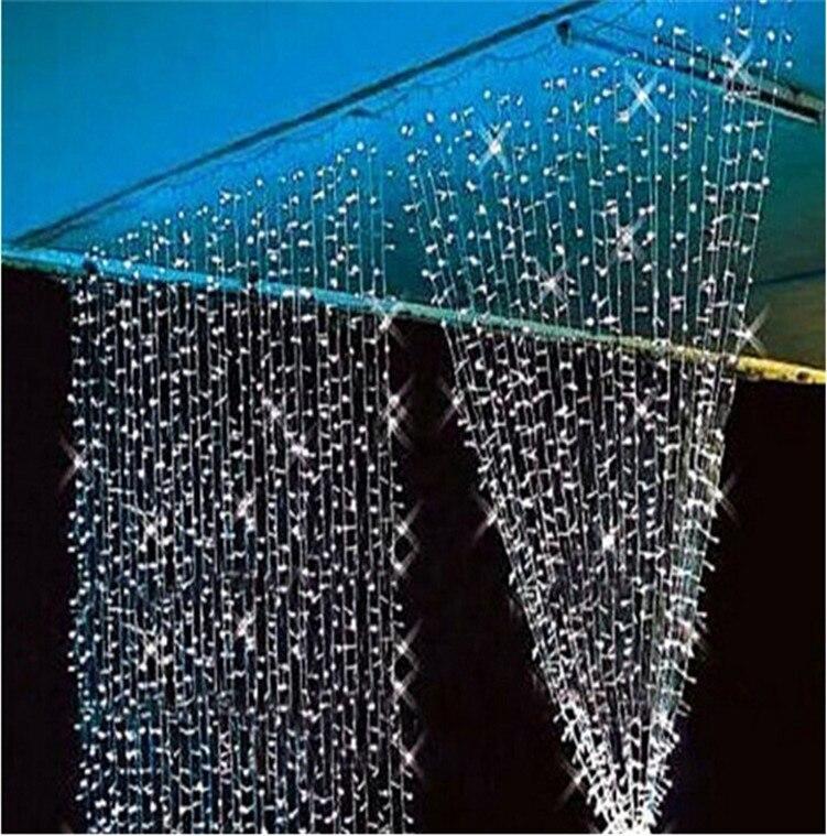 LED rideau chaîne lumière 3 m * 3 m 300 LED s lumières clignotant LED chaîne lampes rideau noël maison jardin Festival lumières 110 v/220 v