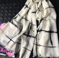 100 Cashmere Scarf Women Pashmina Soft Warm White Gray Blue Scarf Shawl Natural Fabric High Quality