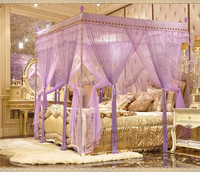 2016 Summer Bedroom Mosquito Net European Palace Princess Square Style Bed Curtain 9 Door Internal External