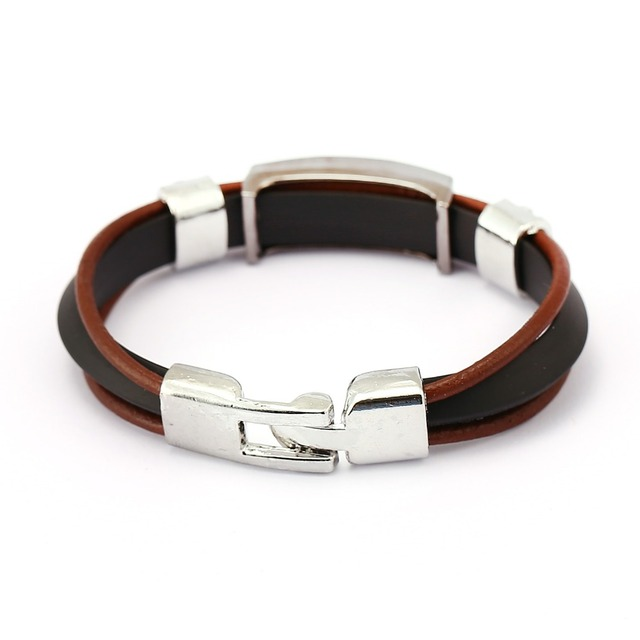 One Piece Luffy Brown Three Layer Leather Chain Bracelet