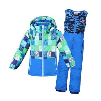 f81e22eaa Dollplus 2019 niño niña traje de esquí impermeable a prueba de viento con  capucha chaqueta con