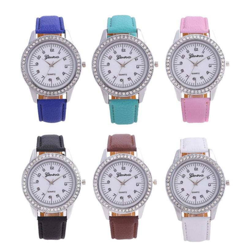 Moment # L04 Geneva 2018 women's watches Fashion Simple Ladies Watch relojes para mujer Leather Belt watch men For Gift clock потребительские товары geneva relojes mujer 2015 montre g cd01