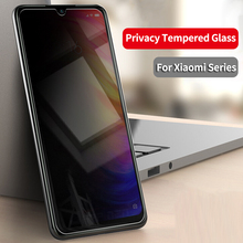 Privacy Tempered Glass For Xiaomi Mi 9 8 SE A2 Lite Max 3 Mix 3 Redmi Note 5 6 7 Pro Pocophone F1 Anti-Spy Screen Protector Film hotsale 9h 2 5 d anti spy privacy premium tempered glass screen protector for samsung galaxy note 3