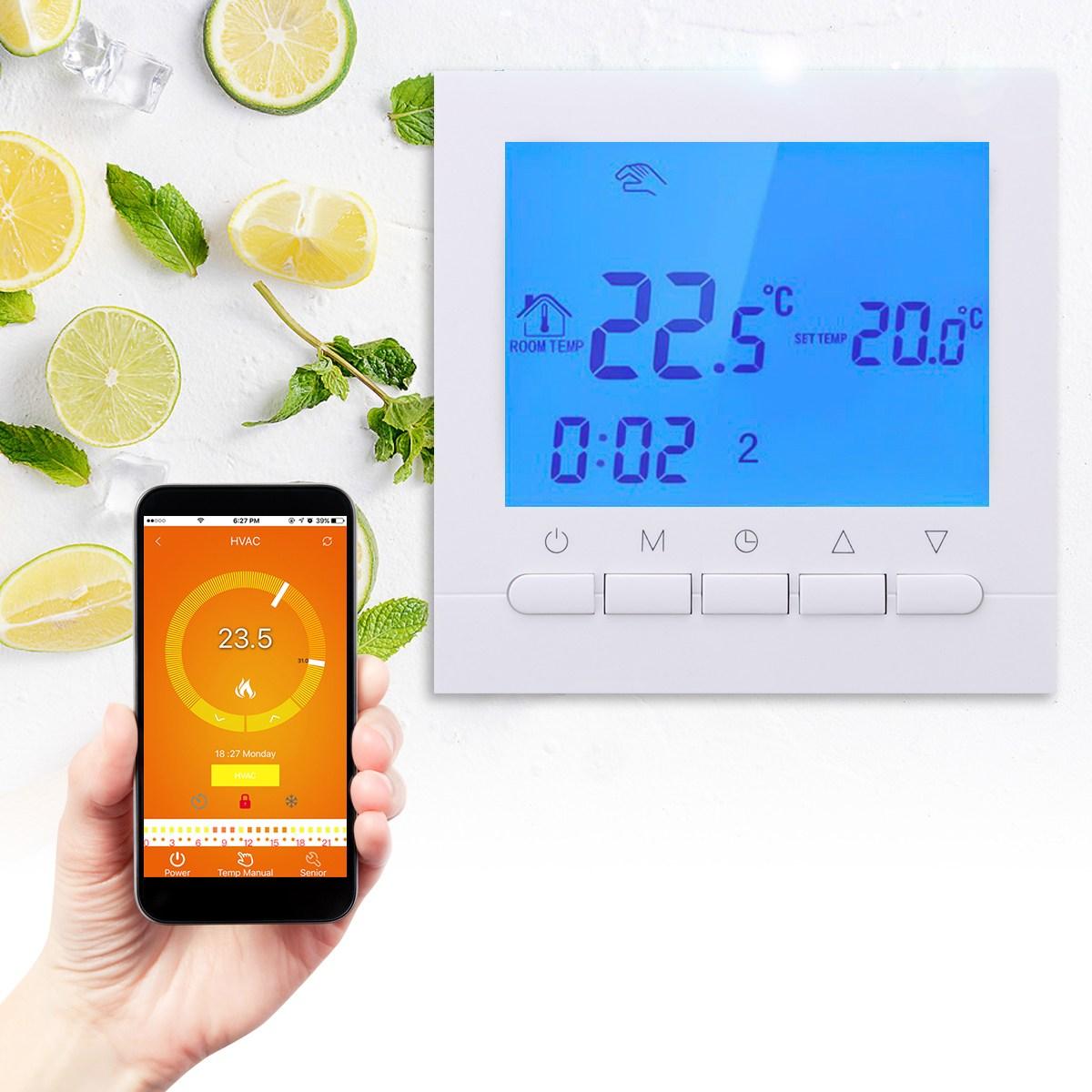 WIFI Control Thermoregulator Programmable Temperature Controller Wireless Thermostat Underfloor Electric Heating App Control