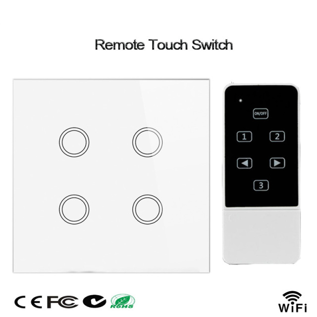 Smart Home Wifi Light Switch,4 Gang 1 Way,UK Standard,Wireless ...
