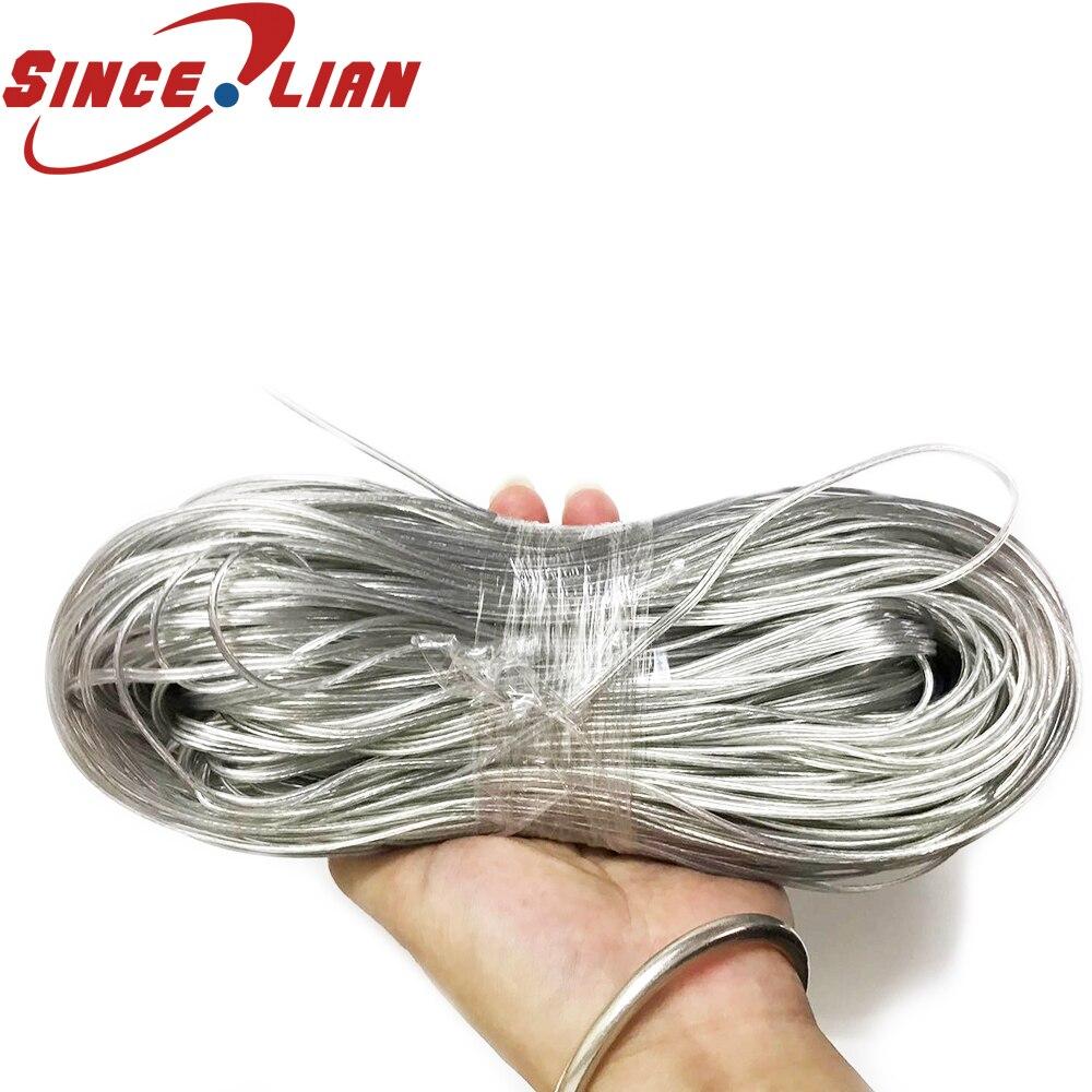 Cordon nu blanc PVC 26AWG 100 UL2468 | Câble Audio en fil de cuivre or argent câble de haut-parleur, ligne transparente de 2468 mètres