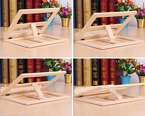 Portatile pieghevole legno regolabile supporto rack di