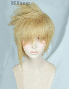 Image 2 - Peluca de fibra de pelo de fibra resistente al calor + gorro de peluca, disfraz de Cosplay, estilo Rubio, de lino corto, de FF15 Final Fantasy XV Prompto