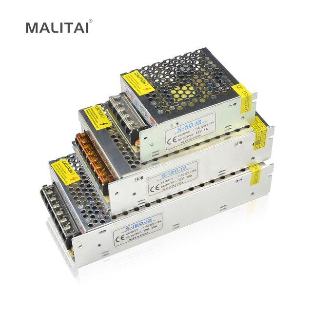 110 V-265 V a DC 12 V 1A 2A 3A 5A 8A 10A 12.5A 15A 20A 30A 40A adaptador de fuente de alimentación de conmutación para tira de luz LED