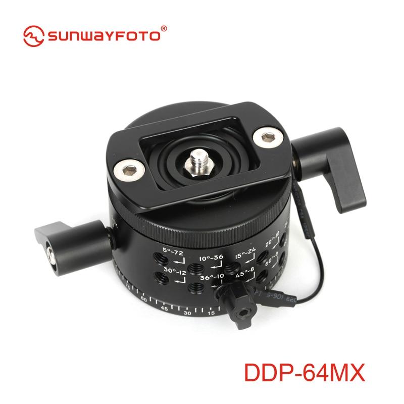 SUNWAYFOTO DDP-64MX индексационная головка для Dslr 360 панорамная Штативная головка Профессиональная Алюминиевая панорамная Штативная головка индексационная головка