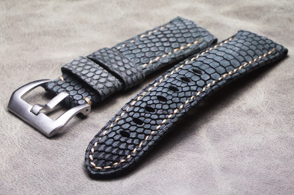 High Quality HandmadeMen 24mm Vintage Leather Strap Bracelet Retro Watchband For Pam And Big Watch Lizard