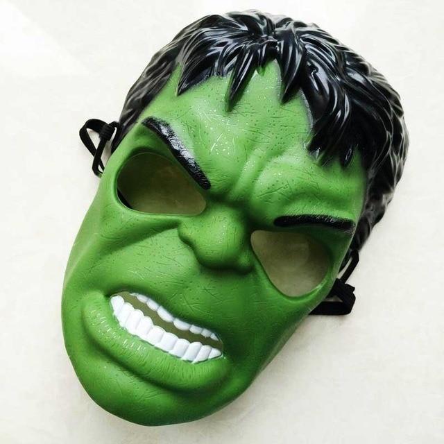 Full Head Mask Super Hero Hulk/American Captain/Iron Man/Spiderman/Batman Crazy Halloween Costume Masks Children Gifts 4