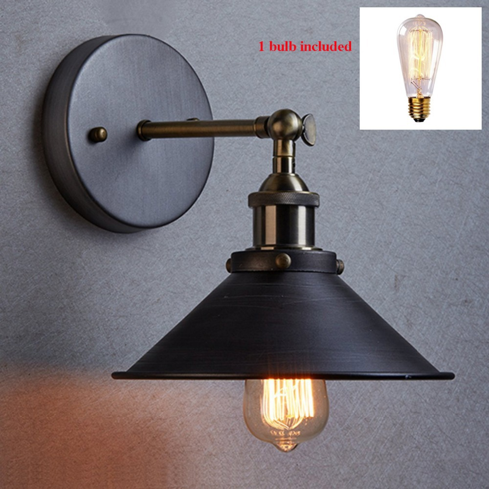 American vintage wall lamp indoor lighting bedside lamps handelier lights for home diameter 22cm 110V/220V E27 Light with Bulbs