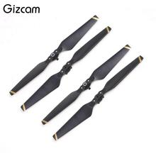 Gizcam 4pcs/set 8330F Folding Propellers Blades Roto Quick Release Wing Fly for DJI Mavic Pro Drone Remote Control Black New