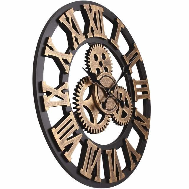 866ce74b62b placeholder Soledi Relógio Europeu Retro Do Vintage Feitos À Mão Do Vintage  Decorativo 3D Engrenagem Relógio de