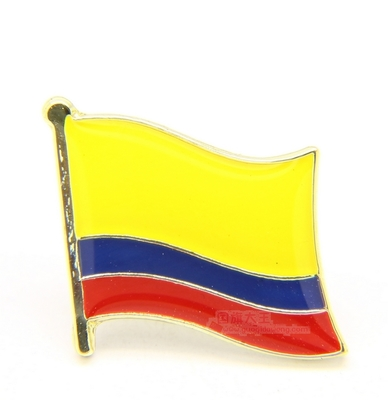 National Flag Metal Lapel Pin Flag Pin Colombia