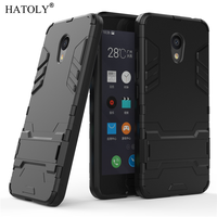 HATOLY For Armor Case Meizu M5C Case Meizu A5 Shockproof Robot Silicone Rubber Hard Phone Cover For Meizu M5C / A5 M710M 5.0
