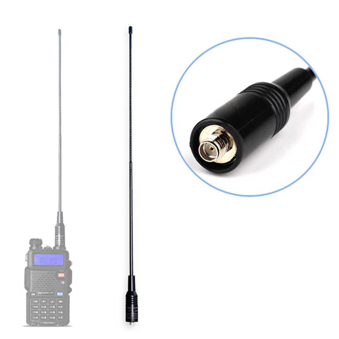 40cm Walkie-talkie Dual-band Antenna Handheld SMA-F771 Gain Soft Antenna UV Hand-held Dual-segment  For Baofeng UV5R