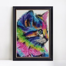 Abstract Cat Diamond Painting