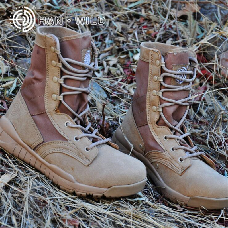 Breathable Summer Spring Army Boots Ultralight Mens Desert Boots Men Military Boots Leather Tactical Combat Army Boots Shoes