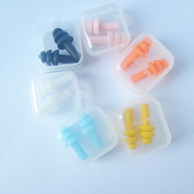 KopiLova 10lots Noise Proof Silicone Ear Plugs Noise Reduction Ear Protector Sound proof Ear Buds For Sleeping Studying Swimming