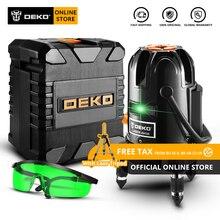 Новое поступление DEKO DKLL501 самонивелирующийся 5 линий 6 точек горизонтальный и вертикальный зеленый лазерный уровень 360 градусов Y коробка набор
