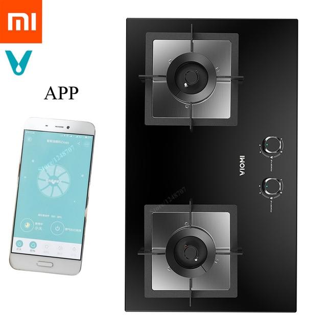 Xiaomi Viomi Smart Natural Gas Stoves Monitor Detector Kitchen Double Fire Stove For Mijia