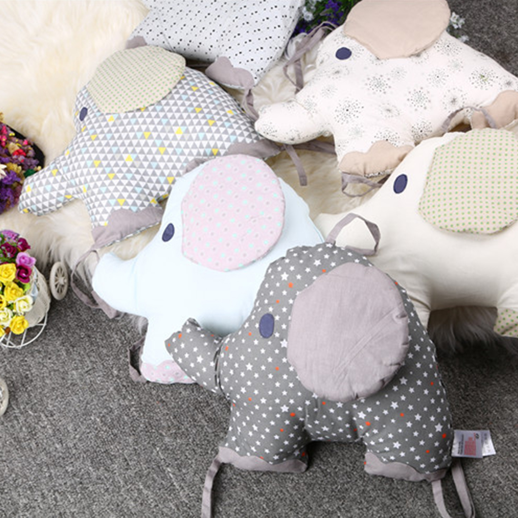 6pcs/lot Baby Crib Bed Bumper Newborn Backrest Cushion Animal Elephant Infant Toddler Bedding Around Protection