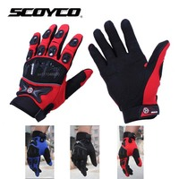 2016 New SCOYCO MC47 Motorcycle Gloves Breathable Bicycle Cycling Biker Motorbike Protection Glove Motorcyclist Mittens