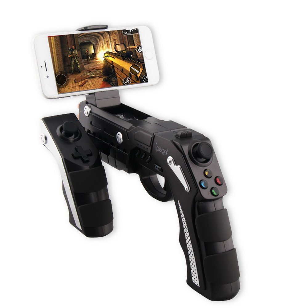 IPEGA 9057 PG-9057 Gun Style Wireless Bluetooth Game Controller Joysticker Gamepad Handset for Cellphone Tablet TV Box