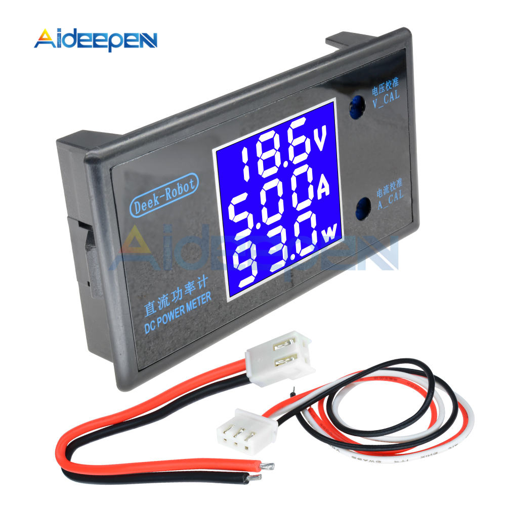 DC 0-100V 0-50V 5A 10A LCD Digital Voltmeter Ammeter Wattmeter Voltage Current Power Meter Volt Detector Tester 250W 1000W 29