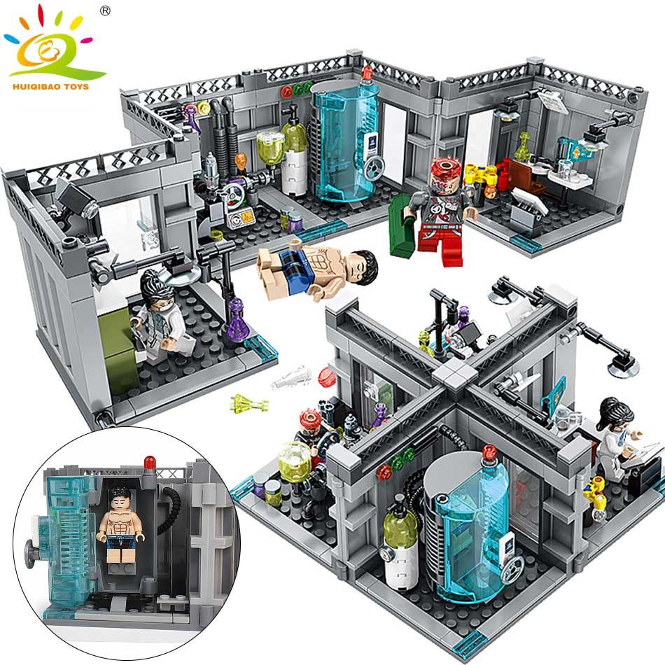 367 pcs Laboratório de Bioquímica Da Polícia Blocos de Construção Compatível legoing Cidade Bionicle Figuras bricks brinquedos Educativos para Crianças