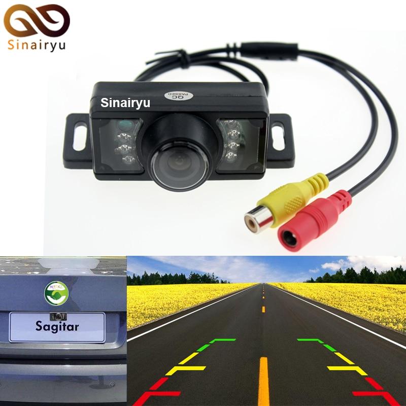 Sinairyu-Car D V D Store Auto Parking Assistance Vehicle Camera Wide Viewing Angle Waterproof Reversing Backup Camera IR LED Night Car Rear View Camera