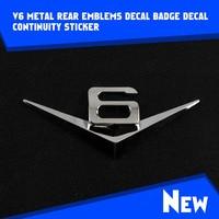PROMOTION 2Pcs Car Metal Chrome Silver 3D V6 Emblem Badge Truck Vehicle Auto Motor Rear Tail