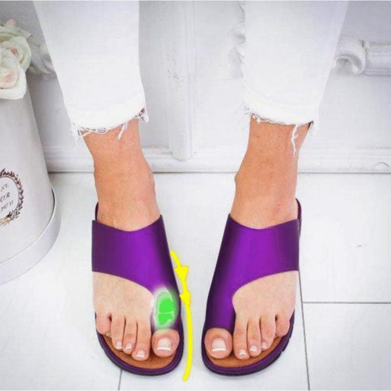 WENYUJH  Shipping Woman Outdoor Slippers 2019 New Fashion -heel fasten Soft Bottom Comfortable Sandals big toe sandal