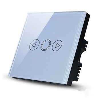High quality led touch dimmer switch 500W Crystal panel wall controller switch for led light and dimming halogen lamp