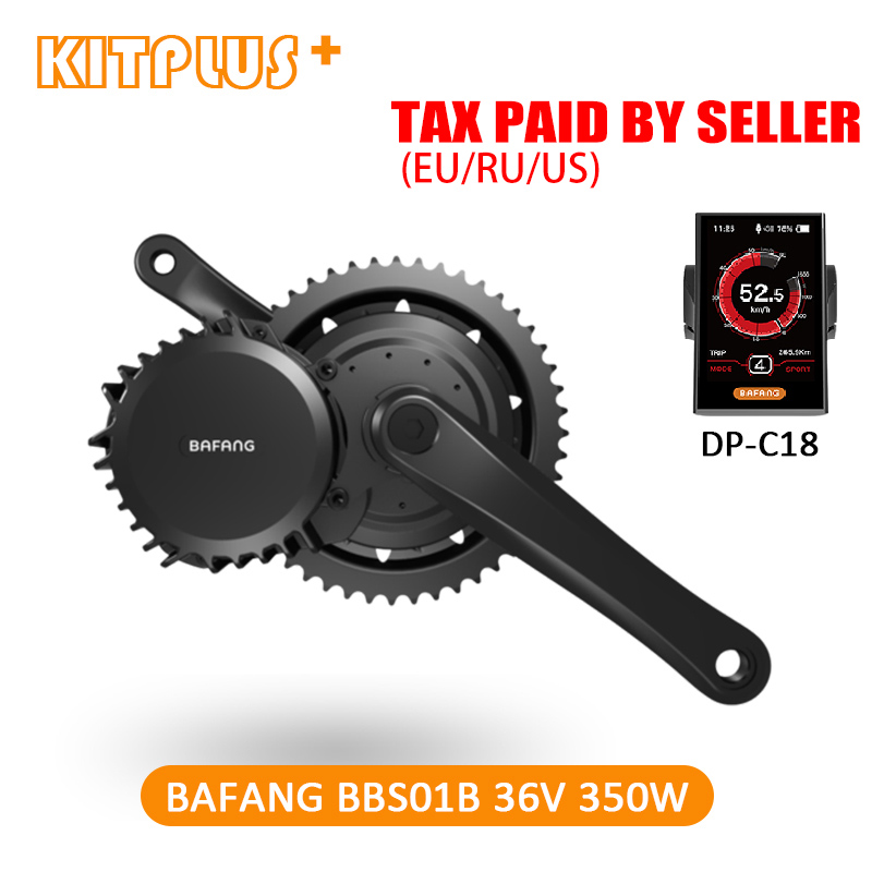 Free Shipping Bafang BBS01 350W Kit 36V 350W Bafang 8Fun Mid Drive Bike Motor for Bicycle