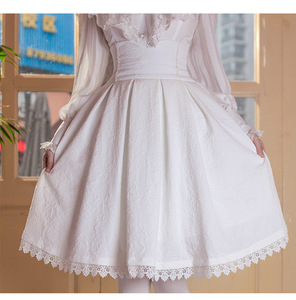 Image 4 - 2018 Women Classic Lolita Skirt Vintage Style Retro Gothic Darkness Lace Up High Waist A Line Chapel Church Formal Skirts Black