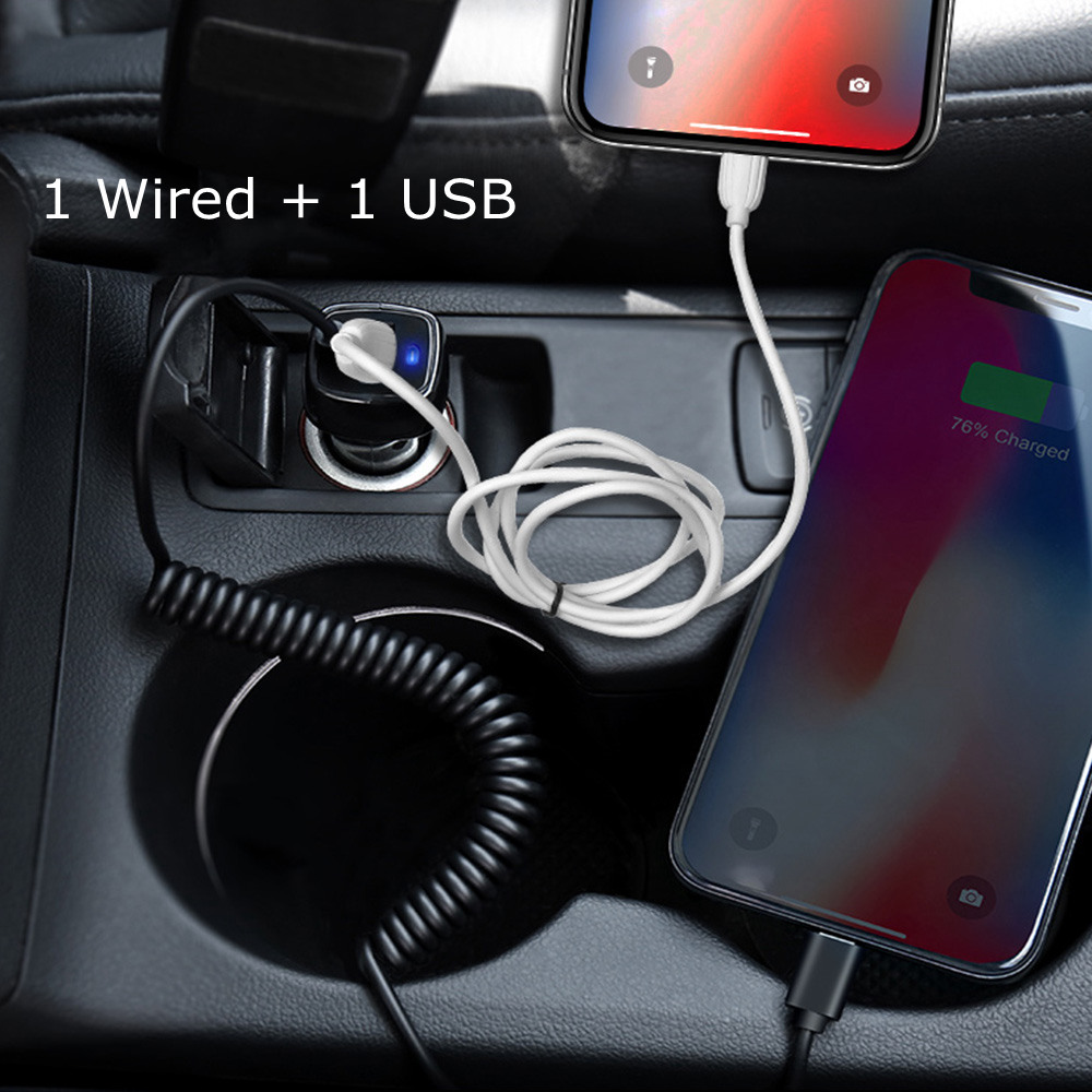 RAXFLY 3 1A USB Car Charger For iPhone X XR XS Max 6 7 8 2 In 1 Charging For Samsung S9 S8 Plus Charger For Phone Tablet In Car in Car Chargers from Cellphones Telecommunications
