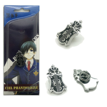 Anime Costumes Badge Black Butler Yes,your Highness Cosplay Black Butler Costume 2 Generation Badge  Anime Pins Metal Pin Brooch