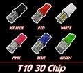 Ventas al por mayor!!! combinación de 6 Colores 60x T10 W5W COB LED Car Interior Techo Cúpula Luz del Área de Carga Blanco/Cristal Azul/verde/Rosa/Rojo