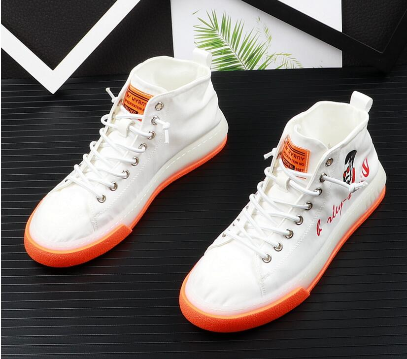 Men Fashion Casual Shoes Summer Canvas High Top Youth Leisure Sneakers Male Breathable White Shoes Zapatos HombreMen Fashion Casual Shoes Summer Canvas High Top Youth Leisure Sneakers Male Breathable White Shoes Zapatos Hombre