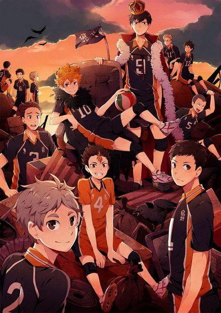 DM02934 Haikyuu Japan High School Volleyball Spor Anime Manga 14x20