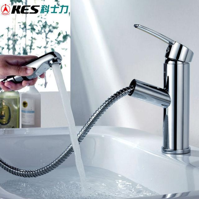 Rubinetti Bagno Con Doccetta Estraibile.Kes L3903a Bagno Lavabo Monocomando Vanity Sink Rubinetto Con
